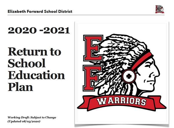 2020-2021 Return to School Education Plan