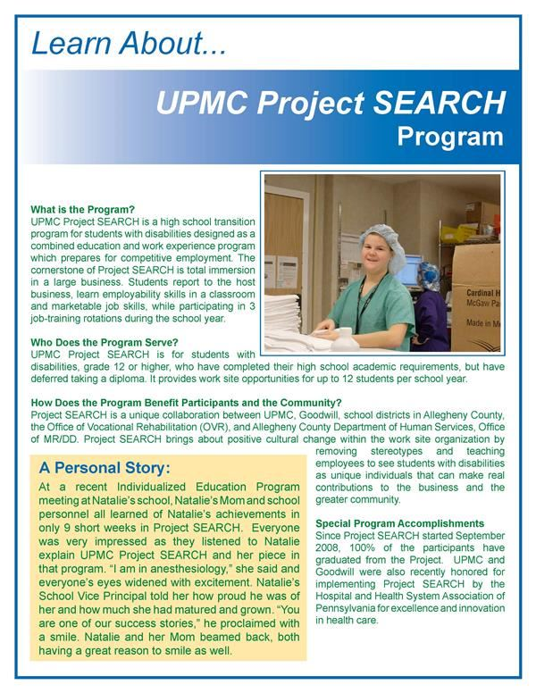 UPMC Project SEARCH